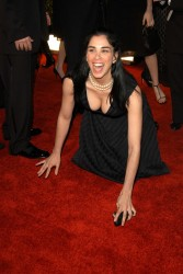 Sarah Silverman - cute with nice cleavage at unknown event