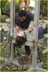 "Jane Levy almost upskirt on Suburgatory s1e5 ""Halloween"""