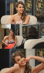 Jessica Alba looking cute in a hanbok inspired dress on an episode of tvN�s �Baek Ji Yeon�s People Inside,�