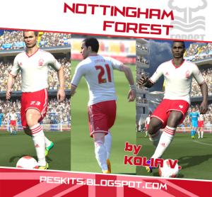 Download PES 2014 Nottingham Away Kits by Kolia V