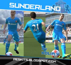 Download PES 2014 Sunderland Away Kits by Kolia V