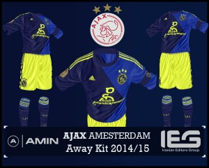 FIFA 14 Ajax Amesterdam Away Kit 2014/15 by amin2244