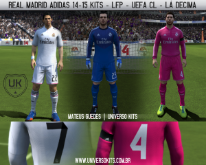 FIFA 14 Official: Real Madrid Adidas 14-15 Kits + Numbers by Mateus Guedes
