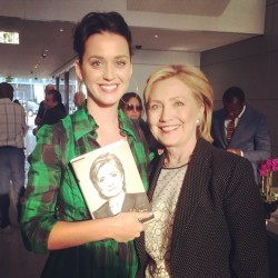 Katy Perry at Hillary Clinton's Book Signing in Los Angeles on June 19, 2014