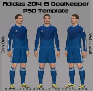PES 2014 Adidas 2014-2015 Goalkeper PSD Template