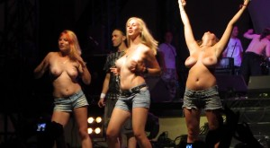 Korrozia metalla metal concert girl nude striptease on stage - 3 8