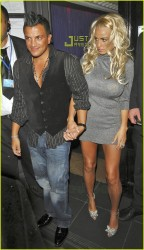 Katie Price massive cleavage, very leggy and upskirt while spending a night around London  9/21/07