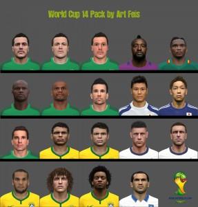 Download PES 2014 World Cup FacePack by AF