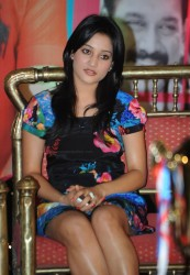 Ritu Barmecha very slight panty peek at Aha Naa Pellanta Success Meet
