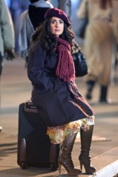 "Salma Hayek on the set of ""30 Rock"" 11/20/08"