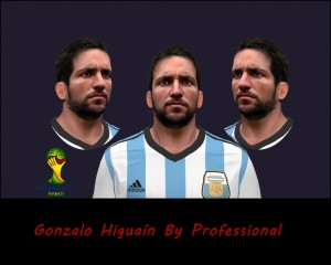 Download Gonzalo Higuaín PES 2014 Face by Professional