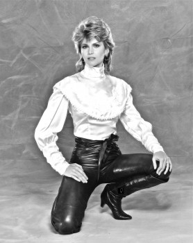 Markie Post: Sexy In Leather Pants: B&W UHQ x 1