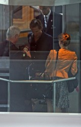 Princess Beatrice in floral dress departs from Nice Cote d'Azure Airport 6/20/11