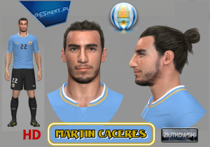 Download Martín Cáceres Face by ZIUTKOWSKI