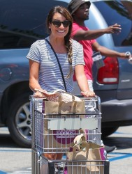 Lea Michele - Shopping at Whole Foods Studio City 7/3/14