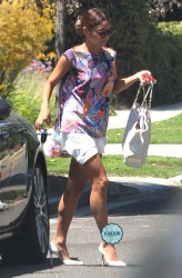 Vanessa Hudgens - Arriving at a friends house in West Hollywood 7/5/14