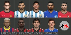 Download PES 2014 International facepack by MarioMilan