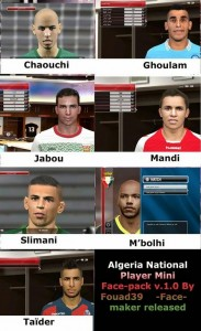Download PES 2014 Algeria Facepack v.1.0 By Fouad39