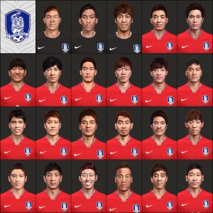 Download PES 2014 Korea NT Face Pack by So-Yul