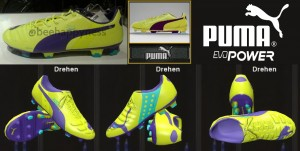Download PES 2014 Puma evoPOWER 1 Yellow / Violet / Blue by Ron69