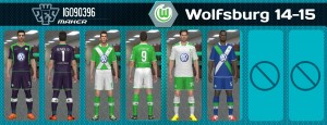 Download PES 2014 Wolfsburg 14-15 v.1 Kits by iGo