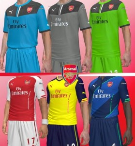 Download PES 2014 Arsenal FC 2014-15 Kits by Yugimarts182