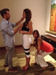 Maria Menounos Getting Ready - 7/14/14