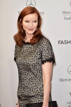 Marcia Cross, Marc Cain fashion show, Berlin 10/07/2014