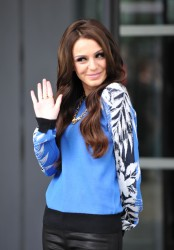 Cher Lloyd @ BBC Breakfast Studios 07-16-2014 (ass shot)
