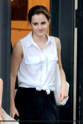 Emma Watson Out in London on July 29, 2014