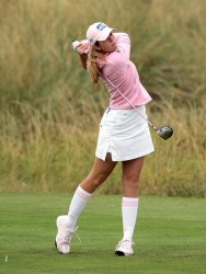 Paula Creamer at the Weetabix Ladies British Open at the Royal Birkdale Golf Club 7/30/05