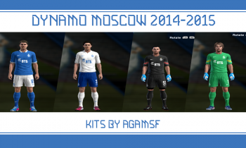 Download PES 2013 Dynamo Moscow 2014/2015 Kits By AGAMSF