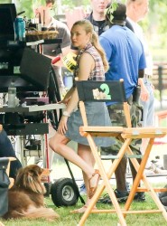 """Amanda Seyfried On the set of """"Ted 2"""" in Boston 08-01-2014 (not HQ)"""
