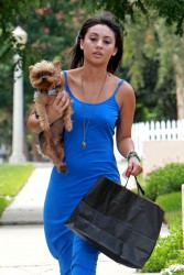 Francia Raisa out and about in LA 08-03-2014