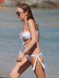 Lindsay Lohan Wearing a Bikini in Greece - August 5, 2014