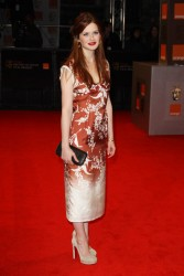Bonnie Wright at the BAFTA awards and later at London's Grosvenor House Hotel for the BAFTA's after-party 2/14/11