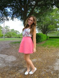 Tanya Burr cute and leggy in Florida 3/25/14