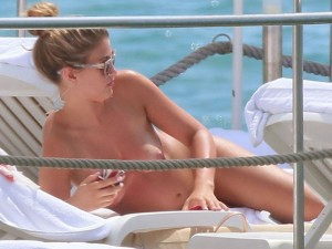 Amy Willerton topless tanning candids Cannes 4