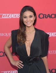 Emmanuelle Chriqui Crackle Sequestered & Cleaners premieres in West Hollywood 08-14-2014