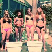 Bella Thorne - Bikini in Ice Bucket Challenge 8/18/14