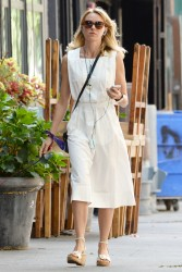Naomi Watts Out walking her dog in Manhattan 08-18-2014