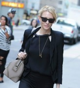 Cate Blanchett Arrives to perform in her play The Maids at New York City Center August 14-2014 x5