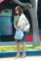 Minka Kelly out in the town.