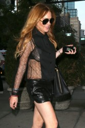 Lindsay Lohan - Arriving at The Bowery Hotel in NYC 8/20/14