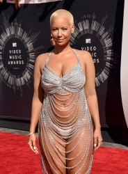 Amber Rose - Wearing Chains & Thong at 2014 MTV VMA Awards in LA 8/24/14
