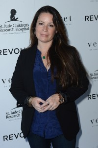 Holly Marie Combs, Velvet X and St Jude join the fight charity tee launch velvet inc, 27/08/2014