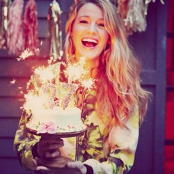 Blake Lively celebrates her 27th birthday 8/25/14