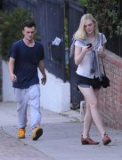 Elle Fanning out in shorts at Griffith Park in Los Feliz 08/30/14