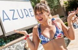Katharine McPhee at Azure Palazzo Luxury Pool in Las Vegas - August 30, 2014