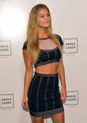 Nina Agdal - Herve Leger By Max Azria fashion show in NYC 09/06/14